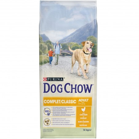 CROQUETTES CHIEN DOG CHOW COMPLET POULET 14KG PURINA