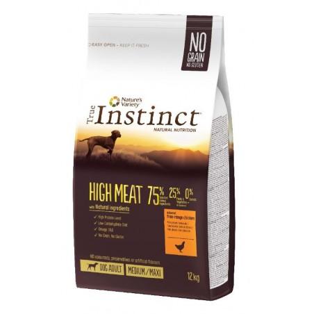 CROQUETTES POUR CHIENS TRUE INSTINCT HIGH MEAT AU POULET 12KG