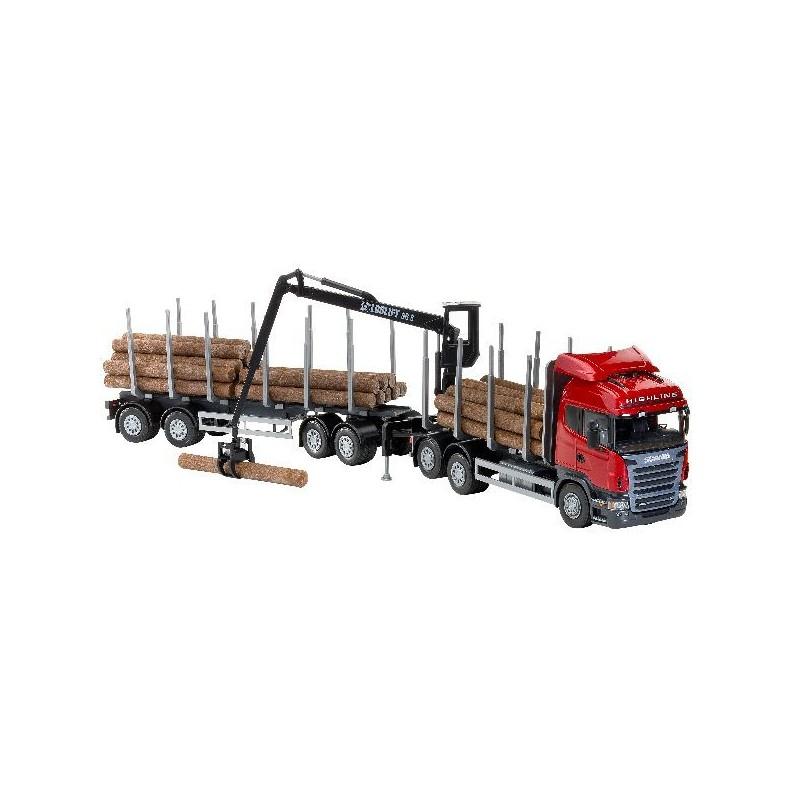 jouet camion forestier rouge scania avec grue p le vert gannat. Black Bedroom Furniture Sets. Home Design Ideas