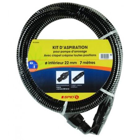 KIT ASPIRATION STD 22MM 7M CREPINE PLAST