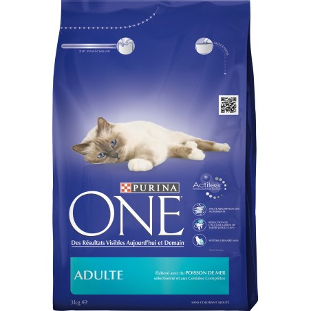 CROQUETTES CHAT ADULTE PURINA POISSON DE MER CEREALES 3KG PURINA