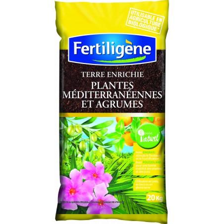 TERRE ENRICHIE BIO POUR AGRUME ET PLANTES MEDITERRANEENNES 20 KG
