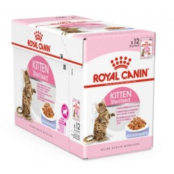 ALIMENT HUMIDE CHAT KITTEN STERILISED GELEE 12X85G ROYAL CANIN
