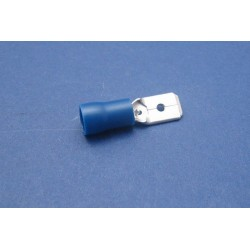 COSSE PLATE MaLE 6 3MM BLEU 10PCS