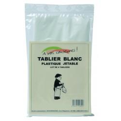 TABLIER DE BOUCHER JETABLES BLANC(X4)