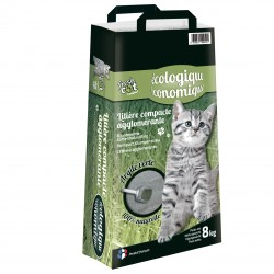 LITIERE CHAT FRESH CAT ARGILE VERTE 8KG