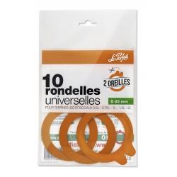 JOINTS BOCAUX RONDELLES UNIVERSELS 2 OREILLES D.85 X10