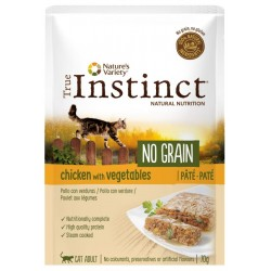 PATÉE POUR CHAT TRUE INSTINCT NO GRAIN AU POULET 70G