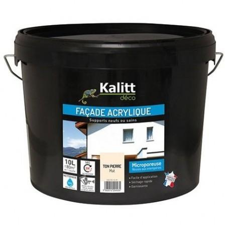 PEINTURE FACADE PLIOLITE TON PIERRE 10L KALITT