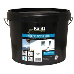 PEINTURE FACADE PLIOLITE BLANC 10L KALITT