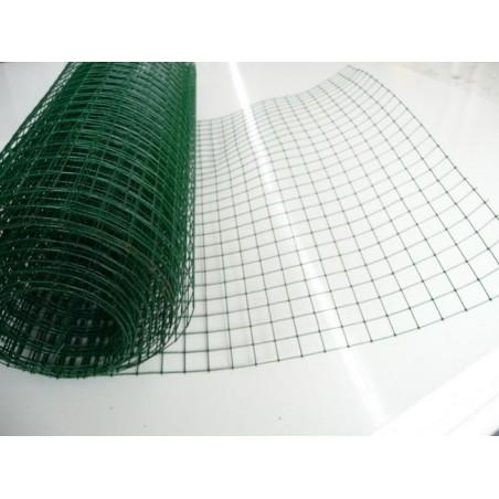 GRILLAGE DAMIER PLASTIFIE MAILLE19X19X0.5M 5M