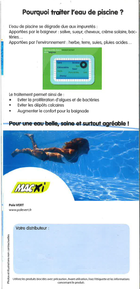 Guide traitement eau de piscine verso