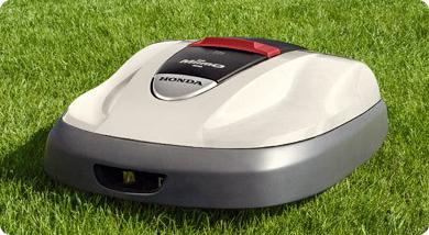 Un modèle de robot de tonte Honda