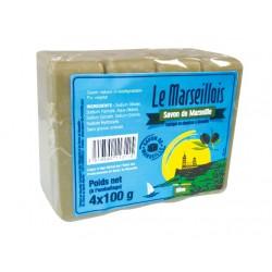 SAVON CUBE DE MARSEILLE 4X100G OLIVE