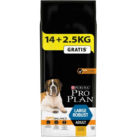 CROQUETTES CHIEN PROPLAN CHIEN LARGE ADULT ROBUST 14KG+2.5KG PURINA