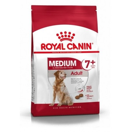 CROQUETTES CHIEN MEDIUM ADULT 7+ 15KG ROYAL CANIN