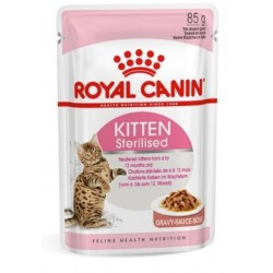 BOUCHEES POUR CHATTON KITTEN STERILISED SAUCE 12X85G DONT 4 GRT ROYAL CANIN