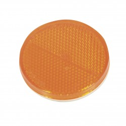 CATADIOPTRE ROND ADHESIF ORANGE 4PCS
