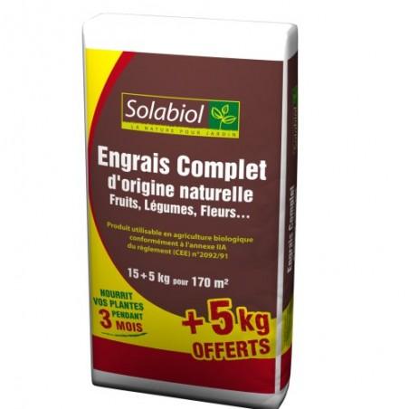 ENGRAIS COMPLET ORIGINE NATURELLE 15+5KG GRAT