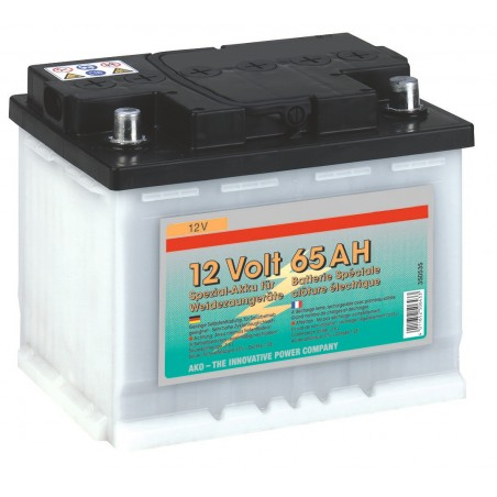 BATTERIE CLOTURE A DECHARGE LENTE 12V 65AH