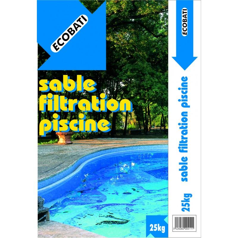 Sable filtration piscine 25kg pole vert montauban for Sable filtration piscine