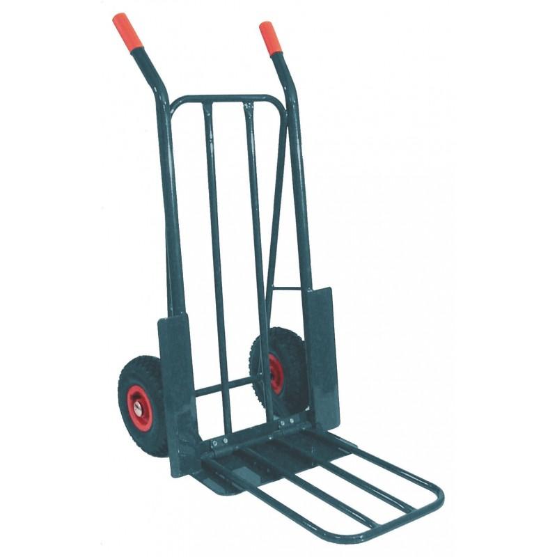 diable roues gonflables 250kg avec plateau rabat pole vert montauban. Black Bedroom Furniture Sets. Home Design Ideas