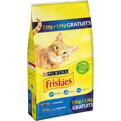ALIMENT CHAT FRISKIES SAUMON 7.5 KG + 1.5 KG OFFERT