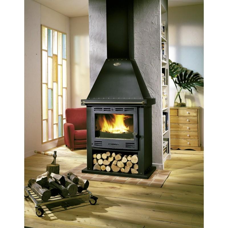 poele a bois cheminee godin cantou 13kw buche70cm pole vert mont de marsan. Black Bedroom Furniture Sets. Home Design Ideas