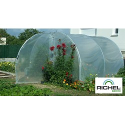 SERRE TUNNEL RICHEL 3MX3M 1 PORTE TUBE 32MM 2X180MI