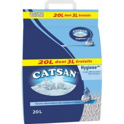 LITIERE HYGIENE PLUS CATSAN 20 L DONT 3 L GT