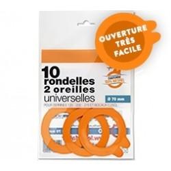 JOINTS BOCAUX RONDELLES UNIV. 2 OREILLES D.70 X10