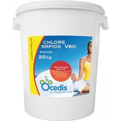 CHLORE RAPID GRAN.63% OVY 25KG