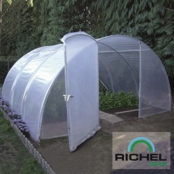 SERRE TUNNEL 4.5MX4.5M 1 PORTE TUBE 32MM 2X180MI
