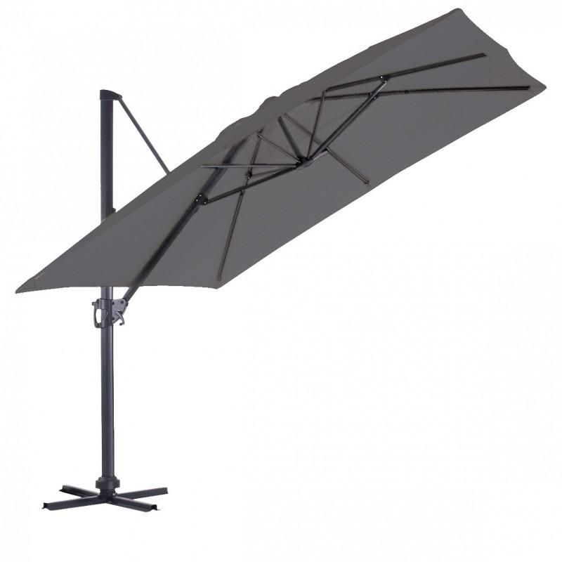 parasol deporte luxe king carre 3x3m gris pole vert. Black Bedroom Furniture Sets. Home Design Ideas