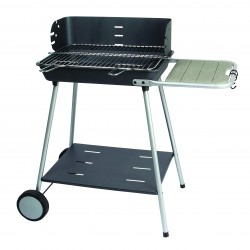 BARBECUE CHARBON FLORENCE FONTE CHARIOT 54.5X38.5C