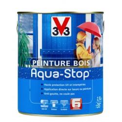 PEINTURE BOIS AQUA STOP 2.5L SAT BLANC