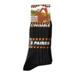 CHAUSSETTES INUSABLE 39/42 X3