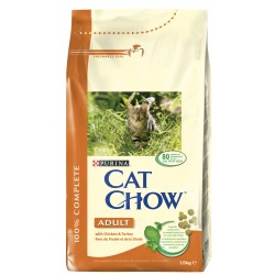 ALIMENT CHAT CAT CHOW ADULT POULET ET DINDE 1 5KG