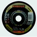 DISQUE FIN RHODIUS INOX 125 XT38