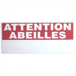PANNEAU ATTENTION ABEILLES AVEC NUM  DE RUCHER