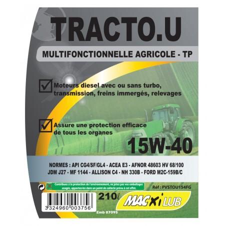 HUILE MACXI TRACTO UNIV 210L