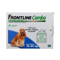 FRONTLINE COMBO CHIEN 10 20 KG X3