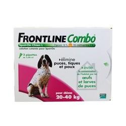 FRONTLINE COMBO CHIEN 20 40 KG X3