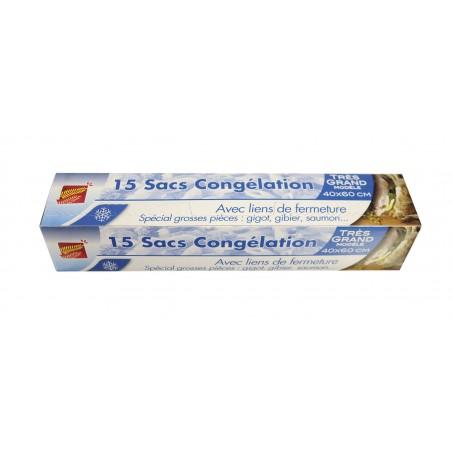 15 SACS CONGÉLATION SPÉCIAL GIBIER 40X60CM