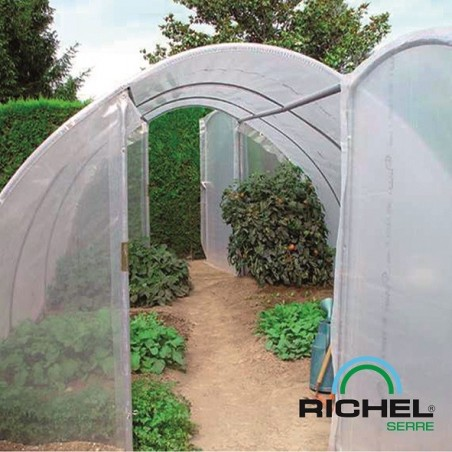 SERRE TUNNEL RICHEL 4.5MX6M 2 PORTES TUBE 32MM 2X180MI