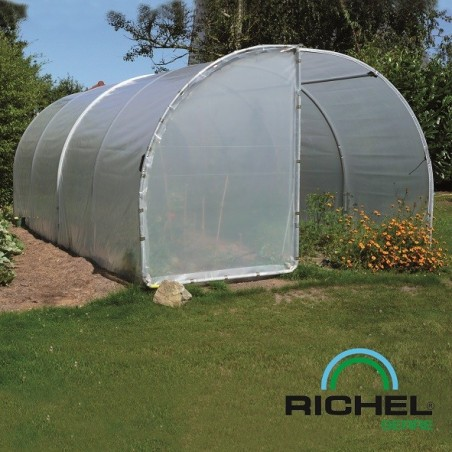 SERRE TUNNEL RICHEL 3MX6M 2 PORTES TUBE 32MM 2X180MI