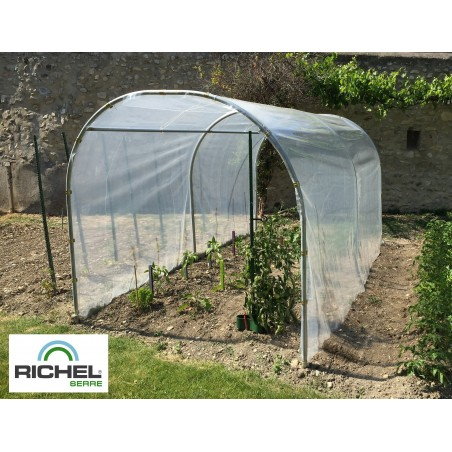 ABRI DE CULTURE RICHEL 2X4M TUBE 32MM 200MI SANS PORTE