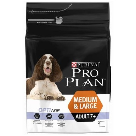 CROQUETTES PROPLAN CHIEN MEDIUM & LARGE ADULT 7+ 3KG PURINA