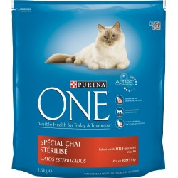 ALIMENT CHAT ONE STERILISED BOEUF 1.5KG
