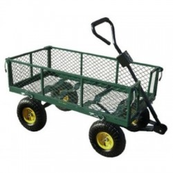 CHARIOT DE JARDIN GRILLAGEE 4 ROUES GONFLABLES